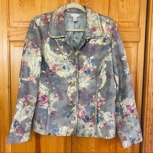 Gorgeous Metallic Chico's Jacket Lrge